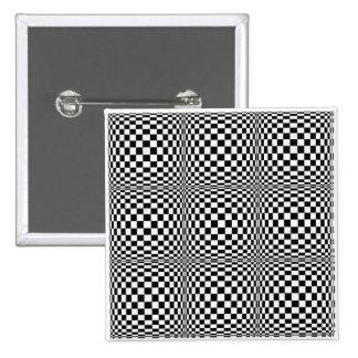 Bouton de carré d'illusion de damier macaron carré 5 cm