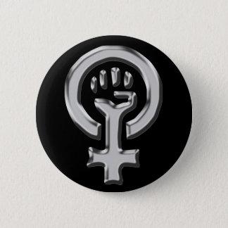 Bouton de chrome de puissance de femme macaron rond 5 cm
