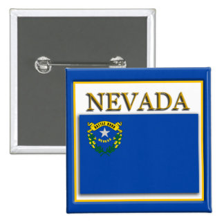 Bouton de conception de drapeau d'état du Nevada Pin's
