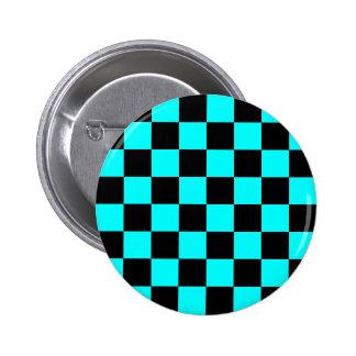 Bouton de damier d'Aqua Badges
