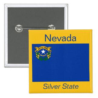 Bouton de drapeau de Nevadan Badges Avec Agrafe