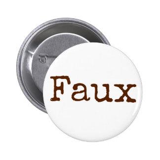 Bouton de Faux (brun) Macaron Rond 5 Cm