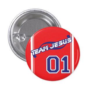 Bouton de Jésus d'équipe Macaron Rond 2,50 Cm