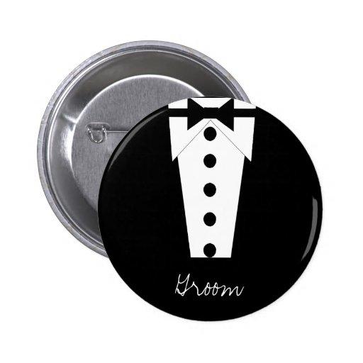 Bouton de marié pin's avec agrafe
