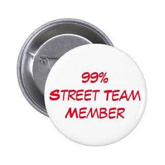 bouton de membre de l'équipe de rue macaron rond 5 cm