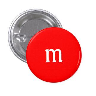 Bouton de monogramme de M Macaron Rond 2,50 Cm