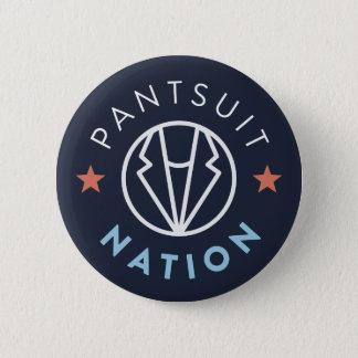 Bouton de nation de Pantsuit, marine Macaron Rond 5 Cm