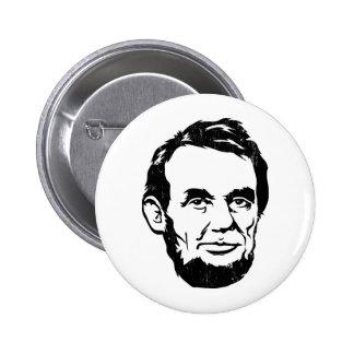 Bouton de portrait d Abraham Lincoln Pin's Avec Agrafe
