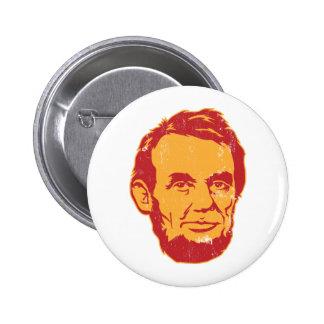 Bouton de portrait d'Abraham Lincoln Macaron Rond 5 Cm