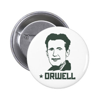 Bouton de portrait de George Orwell Macaron Rond 5 Cm