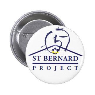 Bouton de projet de St Bernard Pin's Avec Agrafe