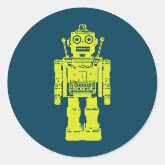 bouton de robot sticker rond