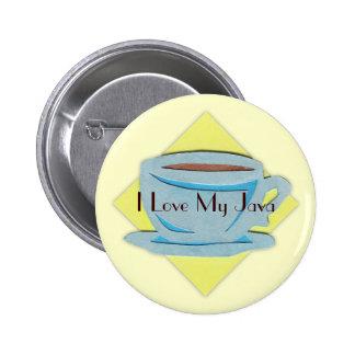 Bouton de tasse de café macaron rond 5 cm