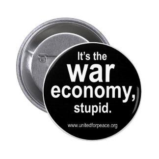 Bouton d'économie de guerre macaron rond 5 cm