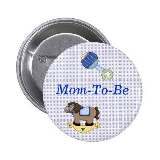 Bouton doux de Pin de maman de douche de bébé Macaron Rond 5 Cm
