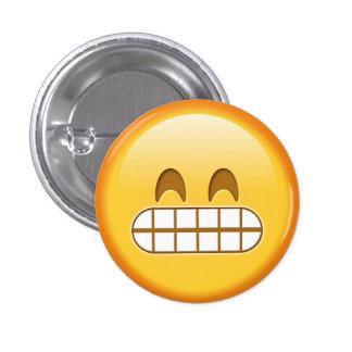 Bouton fâché drôle de smiley d'emoji macaron rond 2,50 cm