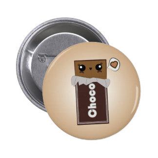 Bouton mignon de barre de chocolat badges