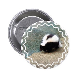 Bouton mignon de mouffette macaron rond 5 cm