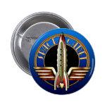 Bouton rond de cadet de l'espace badges avec agrafe