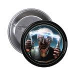 Bouton rond fou du scientifique #2 badges avec agrafe