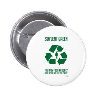 Bouton vert de Soylent Macaron Rond 5 Cm