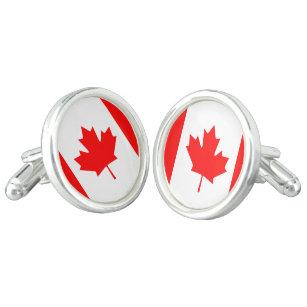 Boutons Manchette en Drapeau en Chrome Emballage Cadeau Ontario Canada