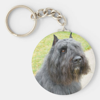 Bouvier des Flandres Basic Round Button Keychain