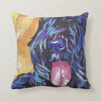 Bouvier Des Flandres Bright Colorful Pop Dog Art Throw Pillow