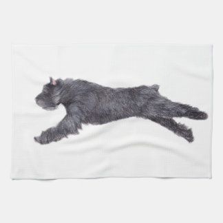 Bouvier des Flandres Dog Art Kitchen Towel