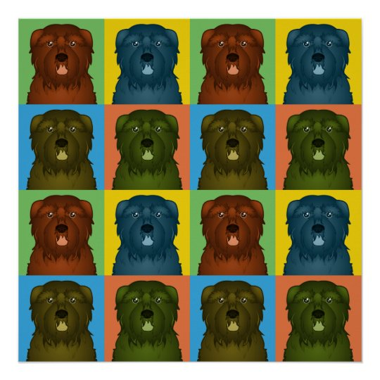 Bouvier des Flandres Dog Cartoon Pop-Art Poster