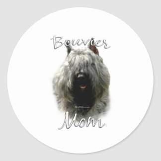 Bouvier des Flandres Mom 2 Classic Round Sticker
