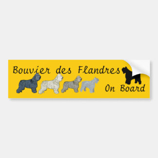 Bouvier des Flandres On Board Bumper Sticker