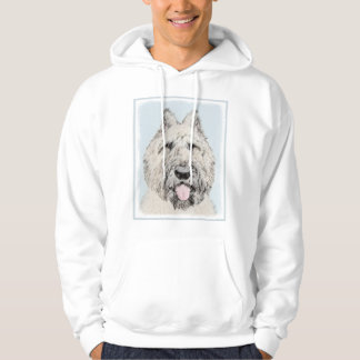 Bouvier des Flandres Painting - Original Dog Art Hoodie