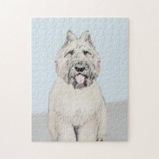 Bouvier des Flandres Painting - Original Dog Art Jigsaw Puzzle