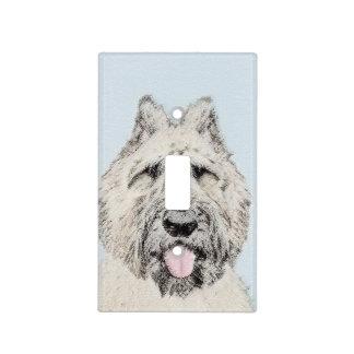 Bouvier des Flandres Painting - Original Dog Art Light Switch Cover