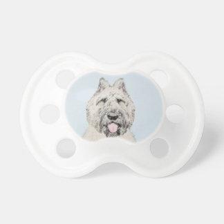 Bouvier des Flandres Painting - Original Dog Art Pacifier