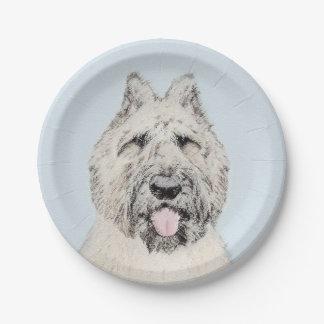 Bouvier des Flandres Painting - Original Dog Art Paper Plate