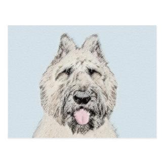Bouvier des Flandres Painting - Original Dog Art Postcard