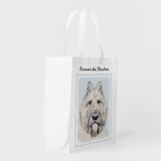 Bouvier des Flandres Painting - Original Dog Art Reusable Grocery Bag