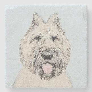 Bouvier des Flandres Painting - Original Dog Art Stone Coaster
