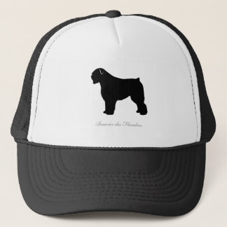 Bouvier des Flandres silhouette Trucker Hat