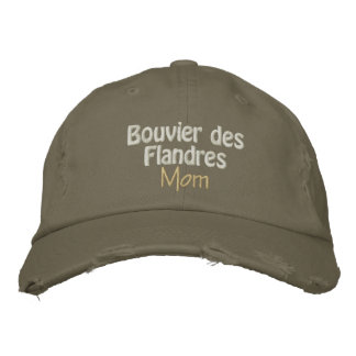 bouvier mom embroidered baseball caps