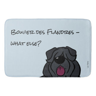 Bouvier of the Flandres - does else what? Bath Mat