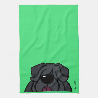 Bouvier of the Flandres head Kitchen Towel