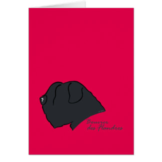 Bouvier of the Flandres head silhouette Card