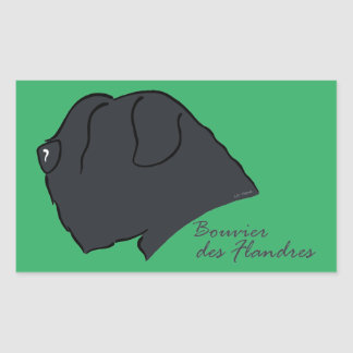 Bouvier of the Flandres head silhouette Sticker