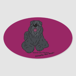 Bouvier of the Flandres - Simply the best! Oval Sticker