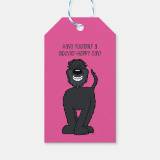 Bouvier Smile Pack Of Gift Tags