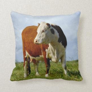 Bovine Beauty Throw Pillow