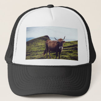 Bovine Cow on Beautiful Landscape Trucker Hat